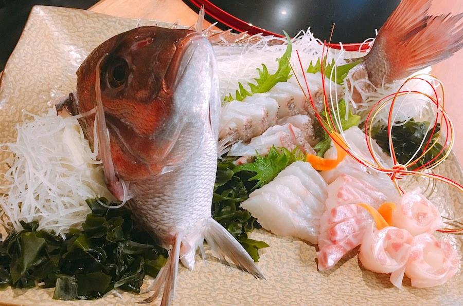 鯛姿造り 鯛姿焼き 25cm